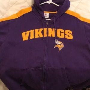 Minnesota Vikings Hooded Sweatshirt. Adult L